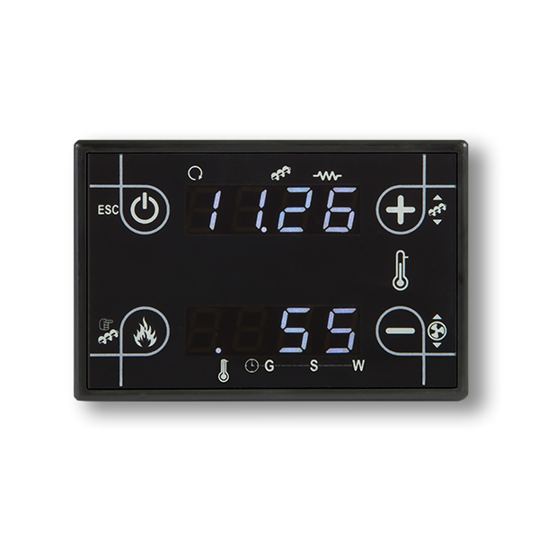 black touch screen low cost compact control panel CP110 for stoves
