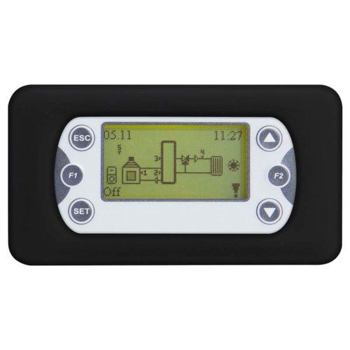 termorregulator Clima500 para sistemas hidráulicos. placa negra redondeada