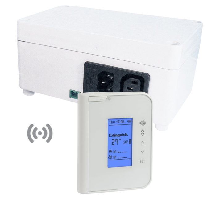 radio thermoregulator FC750 with LCD display and white case