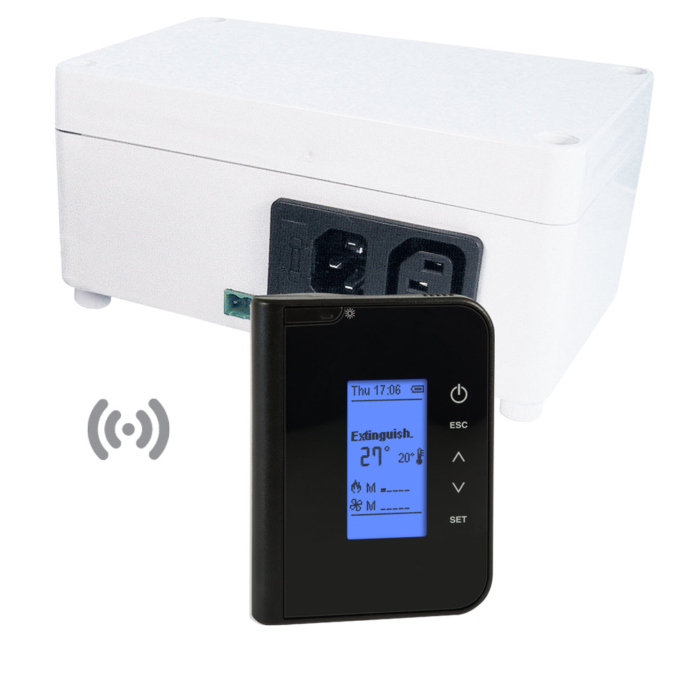 radio thermoregulator FC750 with LCD display and black case