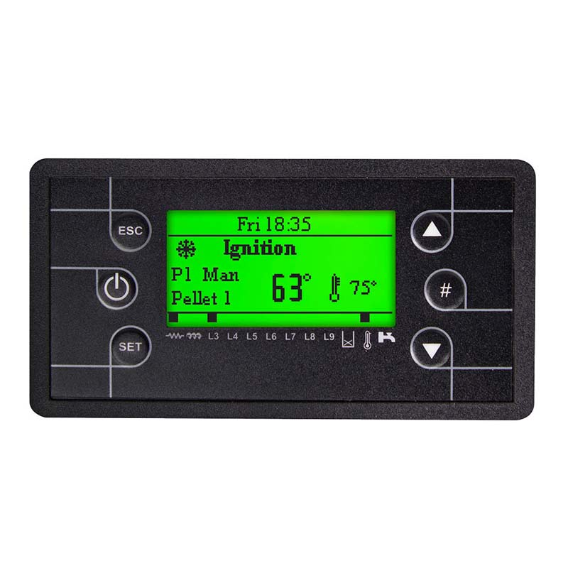 thermoregulator with push buttons and green backlight