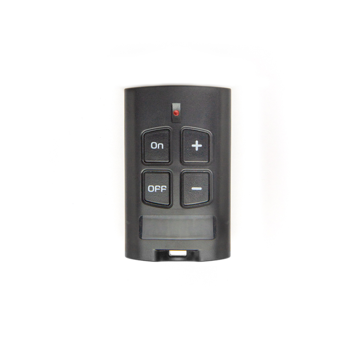 black 4-button radio control for stove and boiler management