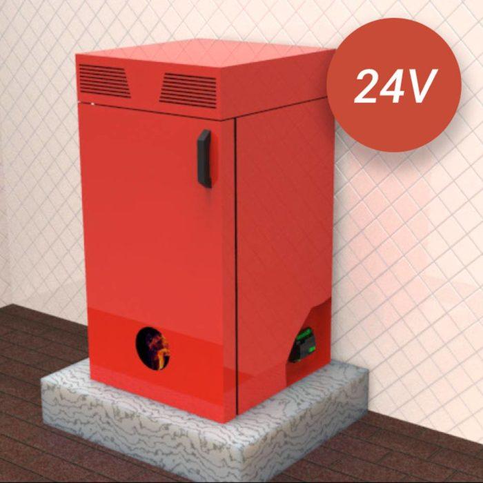 Estufa de pellets de 24V que monta la placa de control de 24V