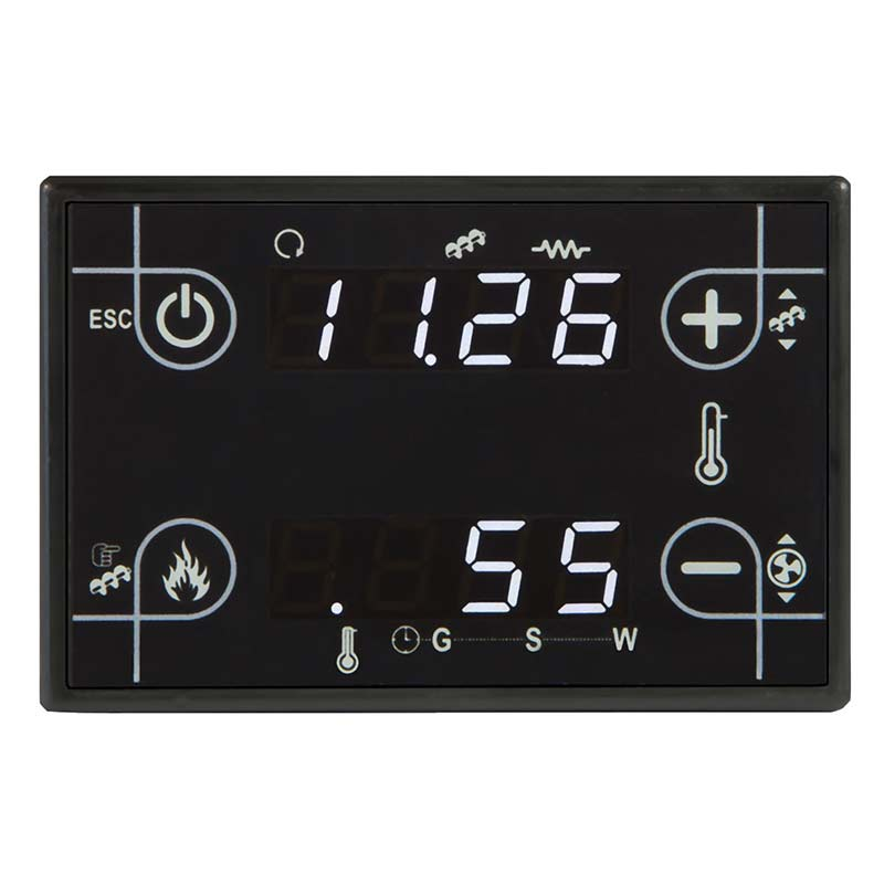black glass soft touch thermoregulator CP110 for stoves