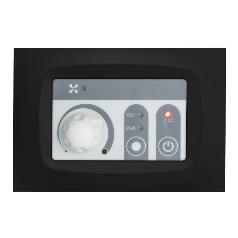 rounded black digital thermoregulator FC330