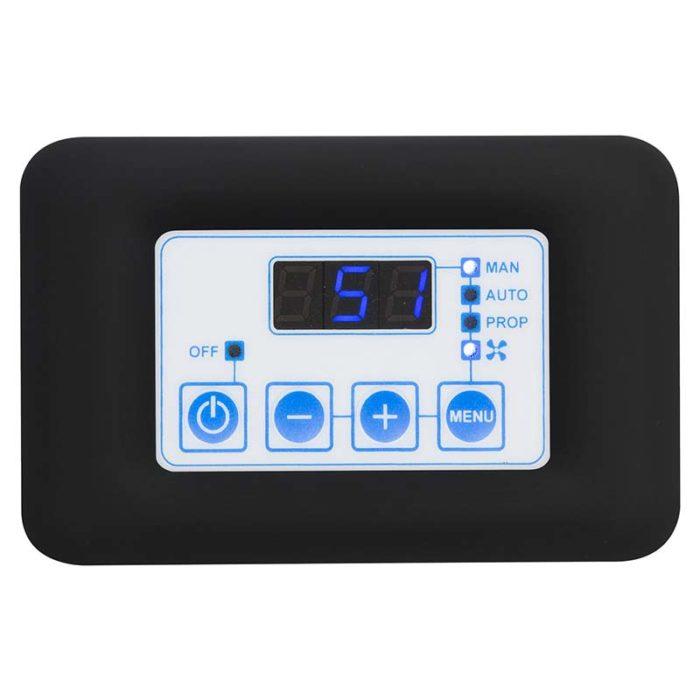 termoregolatore digitale fc810 con placca nera