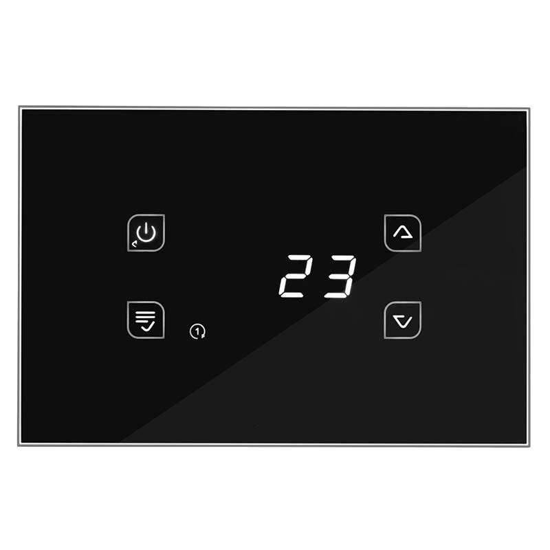 black glass soft touch thermoregulator GLA810