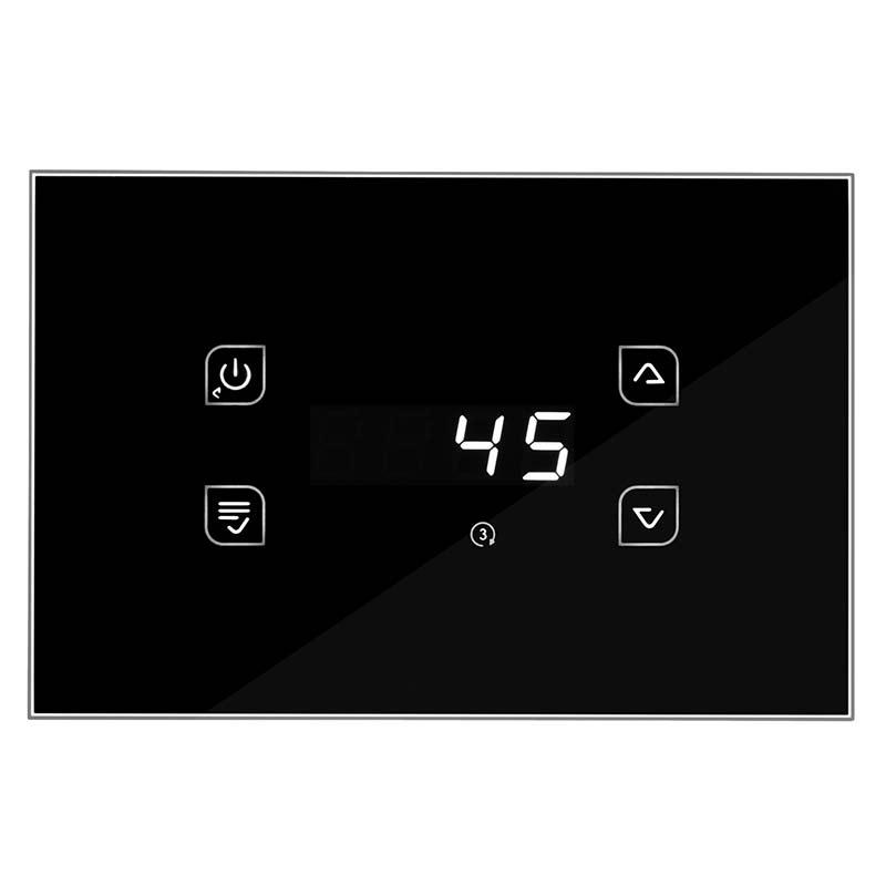 Il Termoregolatore in vetro nero GLH110 Touch