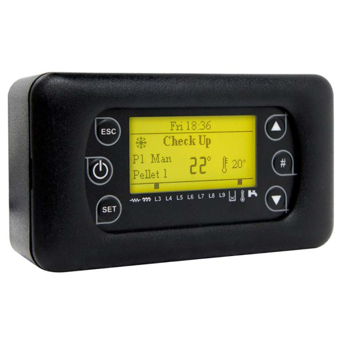 LCD100 è un pannello di Controllo a distanza con display LCD