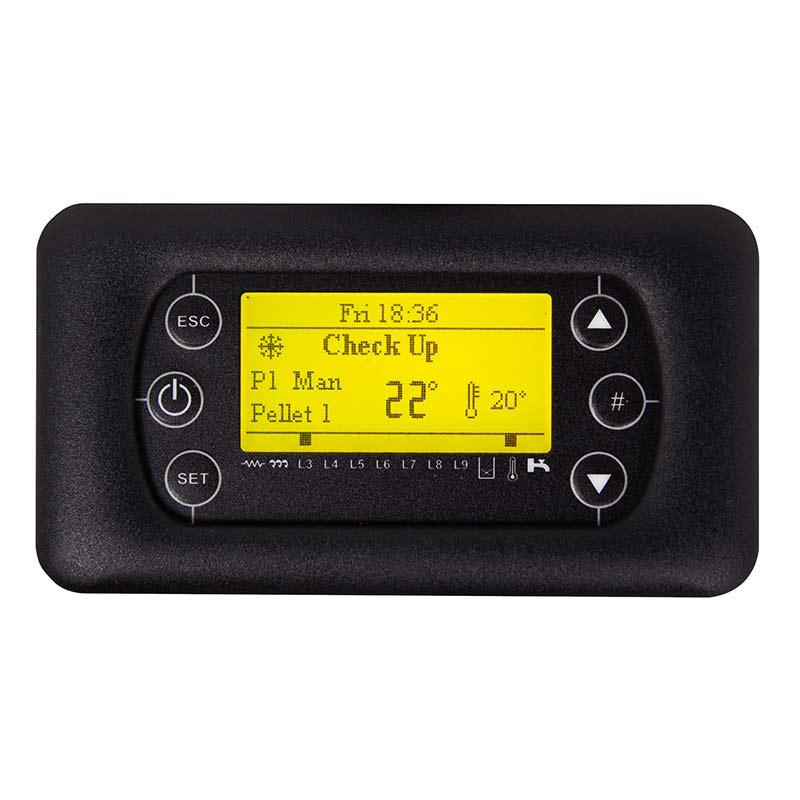 termoregolatore LCD100 retroilluminato con luce gialla