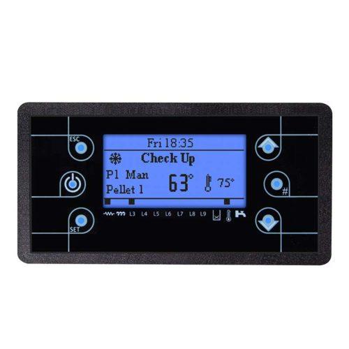 pannello di controllo con display LCD lcd100 è dotato di menu multilingua