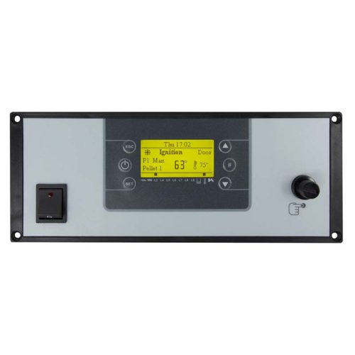 LCD200 Control panel with a general switch and safety thermostat
