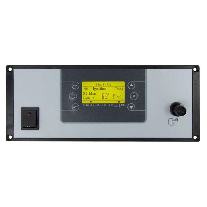 Pannello di controllo con interruttore LCD200 che integra un interruttore generale e termostato di sicurezza