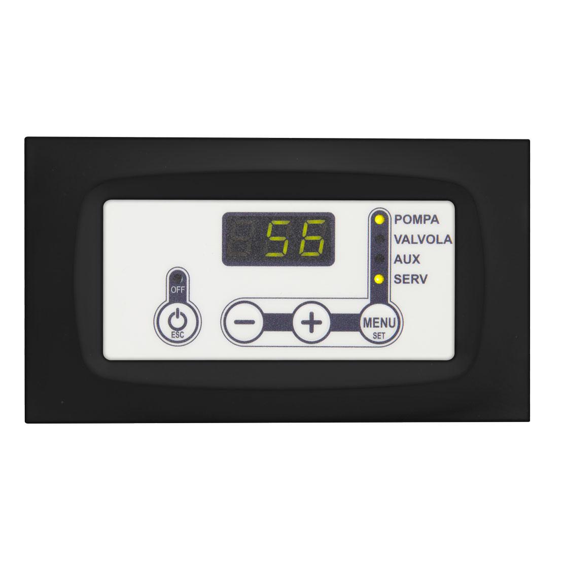 tastiera termoregolatore tc120 bianca con placca nera tasti a pressione