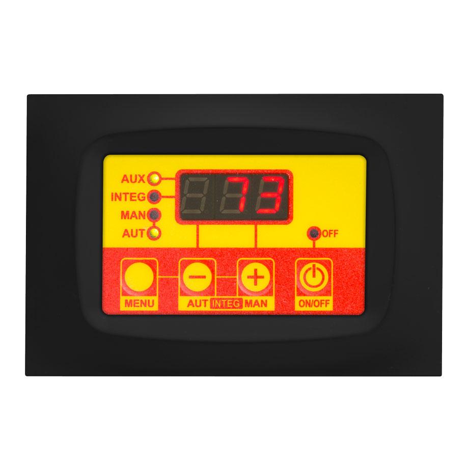 termoregolatore pannelli solari TSOL01 placca gialla e nera
