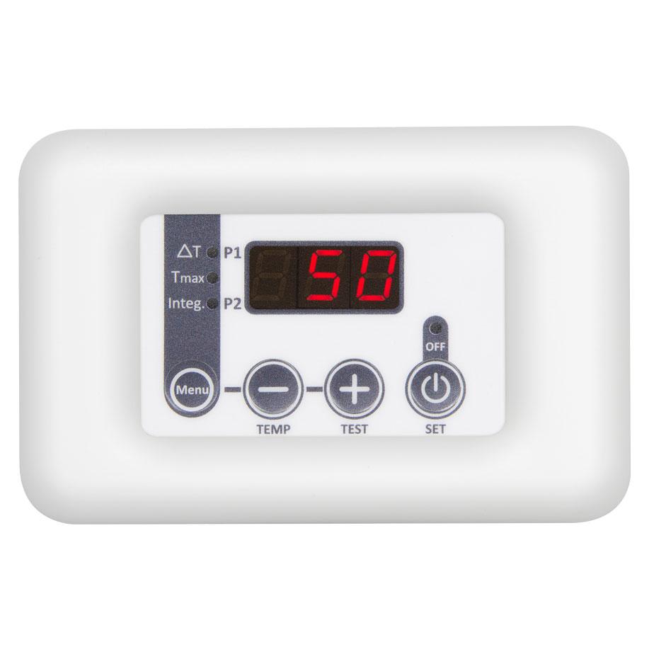 termoregolatore per pannelli solari TSOL02 pallca bianca