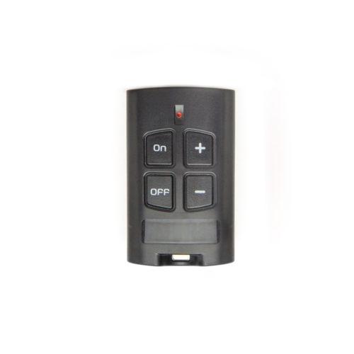 radiocomando nero 4 tasti per gestione stufe e caldaie